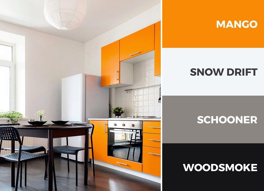 Orange And Black Kitchen Color Scheme