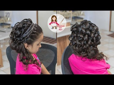 Peinados elegantes para nina de primera comunion