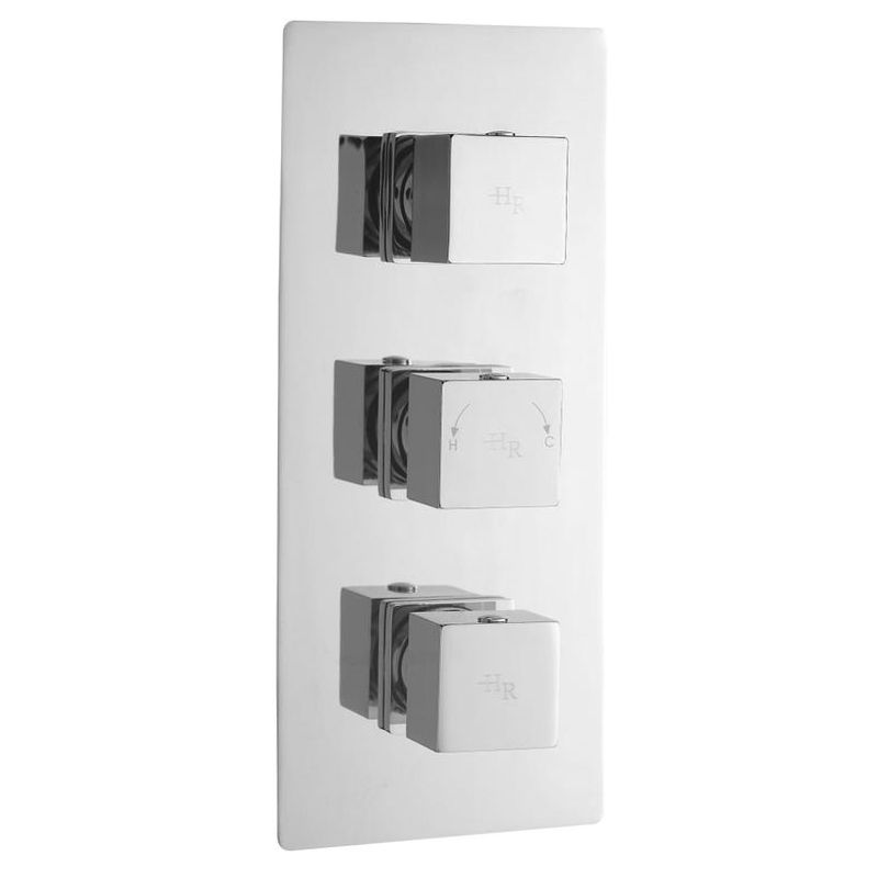 Hudson Reed Kubix Triple Concealed Thermostatic Shower Valve with ...