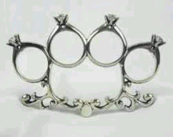 Diamond studded knuckles