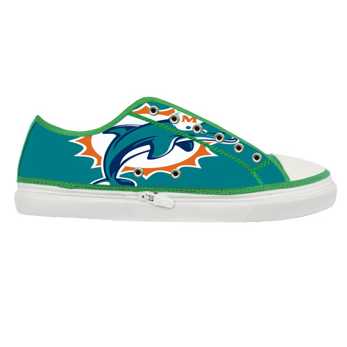 Miami Dolphins Logo Custom Canvas Shoes Women By