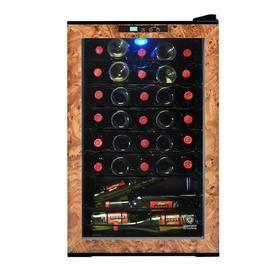 Vinotemp 28 Bottle Black And Brown Wine Chiller El 28wl Italian