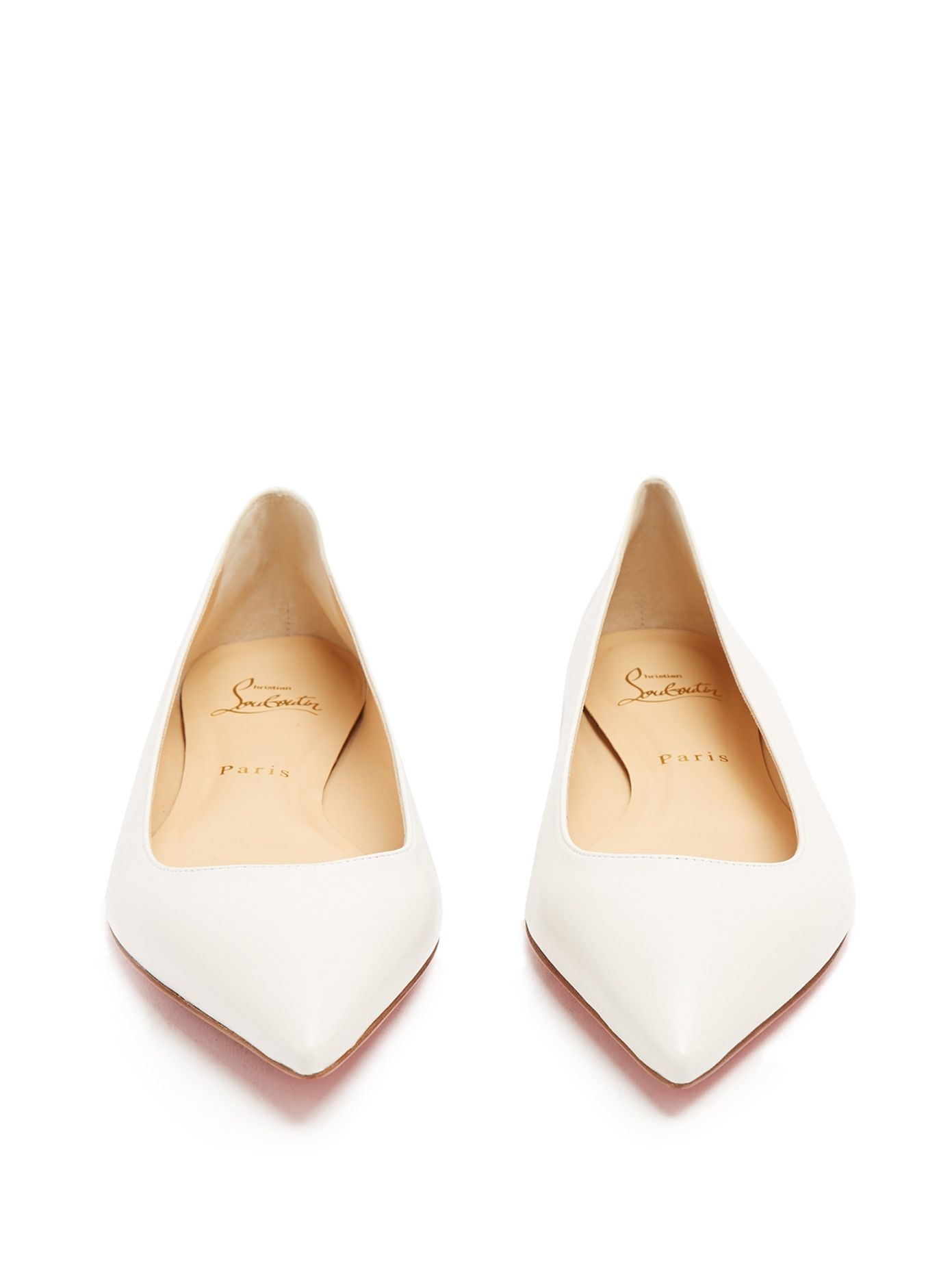 ed1b82704b31 Click here to buy Christian Louboutin Ballalla point-toe leather flats at  MATCHESFASHION.COM