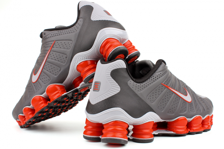 NIKE Shox TLX 488313 018 Dark Grey   Wolf Grey-Black-Team Orange The ... 68e874512
