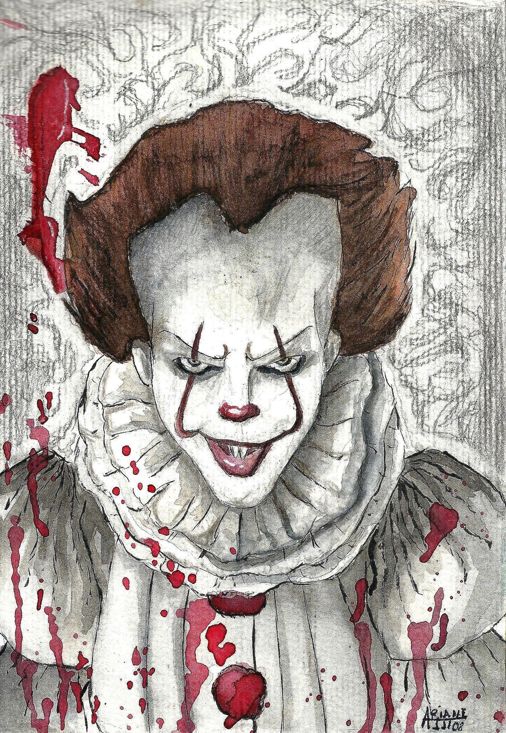 рисунок для хэллоуина пеннивайз известная борьба кетамином