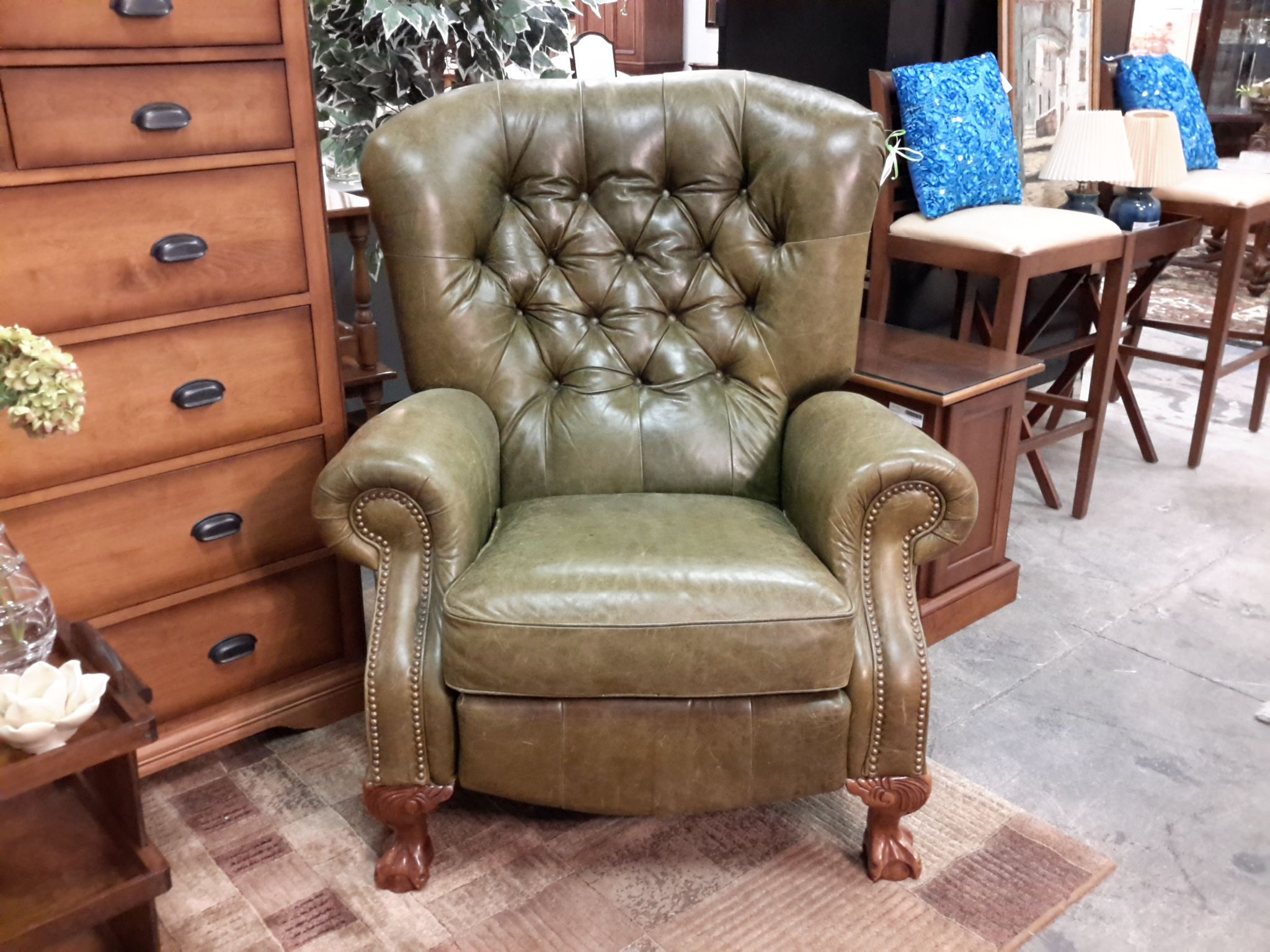 olive green leather recliner the millionaires daughter