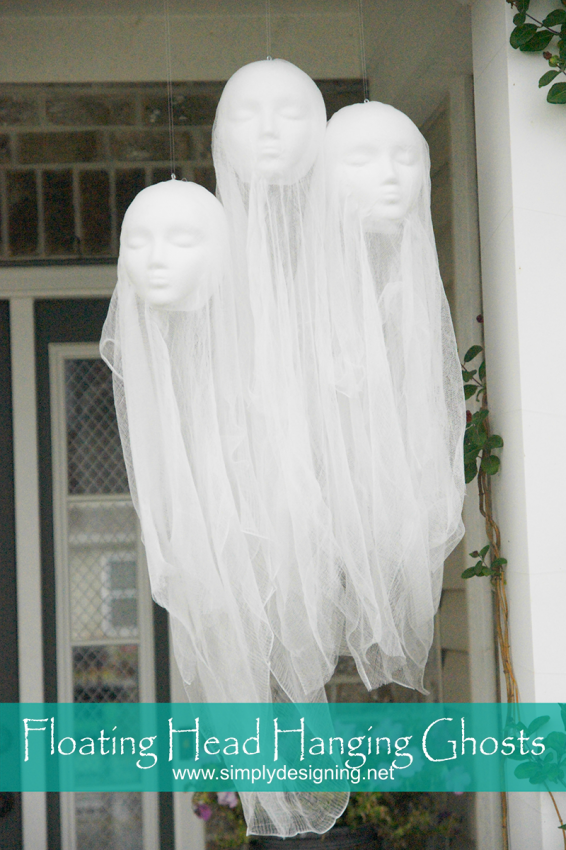 floating head hanging ghosts halloween crafts halloweendecor - Scary Halloween Crafts