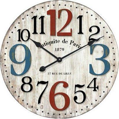 Large Round Antiquite De Paris Wall Clock 60cm Paris Wall Clock Wall Clock Wooden Clock