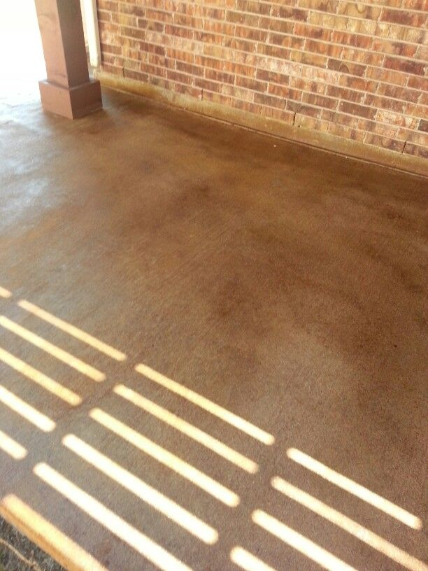 Cordovan Leather Acid Stain On Old Concrete Patio.