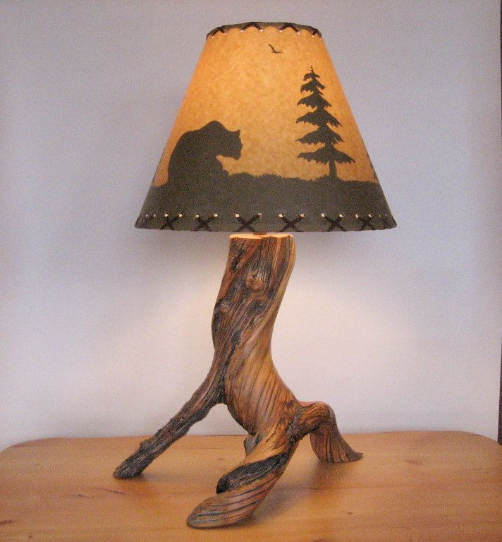 Reclaimed Bristlecone Pine Table Lamp Bristlecone Pine Pine Table Lamp