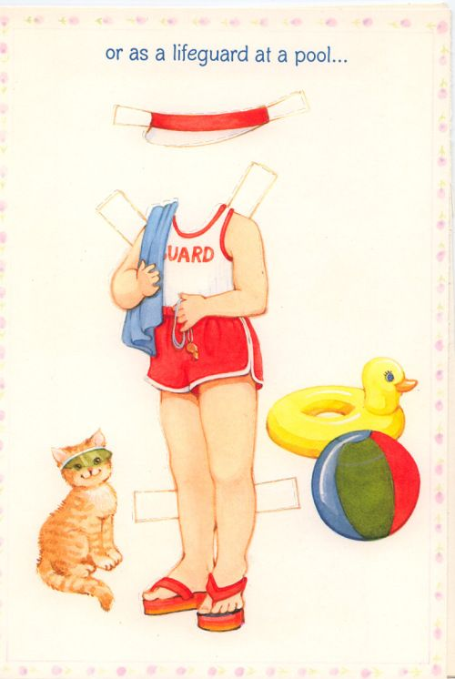 Becky Sue Paper doll card 1981 #3