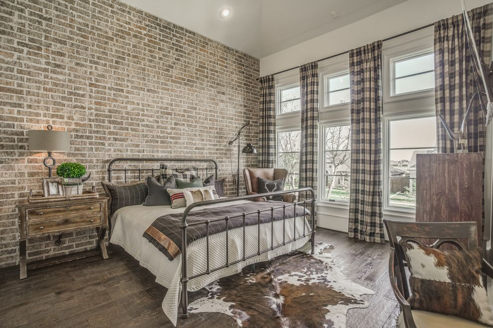 Faux Cowhide Rug And Plaid Curtains Are Also Perfect Things To Add In Rustic Interiors Rustic Bedroom Decor Cozy Bedroom Design Rustic Bedroom