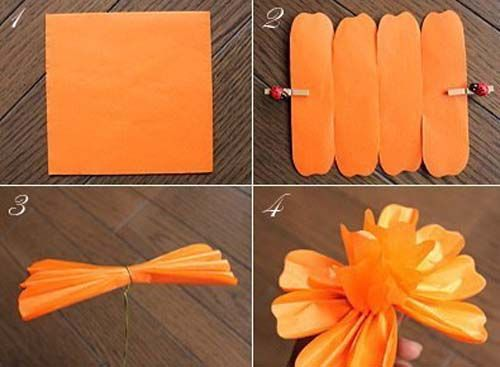 Hacer flores gigantes de papel china paso a paso pinteres - Como hacer flores de papel ...