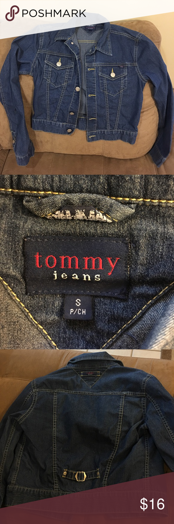 Denim jacket Offer 20% discount when bundling items while paying one shipping fee. Comes from a smoke free home. Tommy Hilfiger Jackets & Coats Jean Jackets