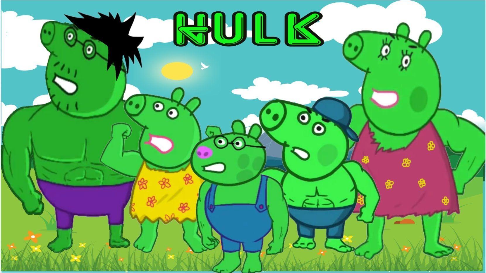 Peppa Pig Hulk Finger Family Nursery Rhymes Lyrics Peppa Pig