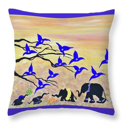 Baby Elephants Art -elephants Wall Art-baby Animals Painting- Safari ...