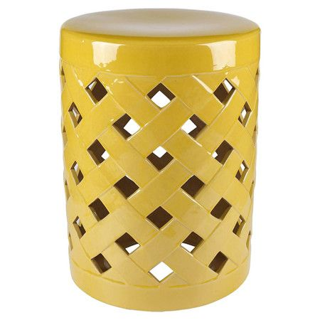 Featuring A Latticed Design And Bold Yellow Finish This