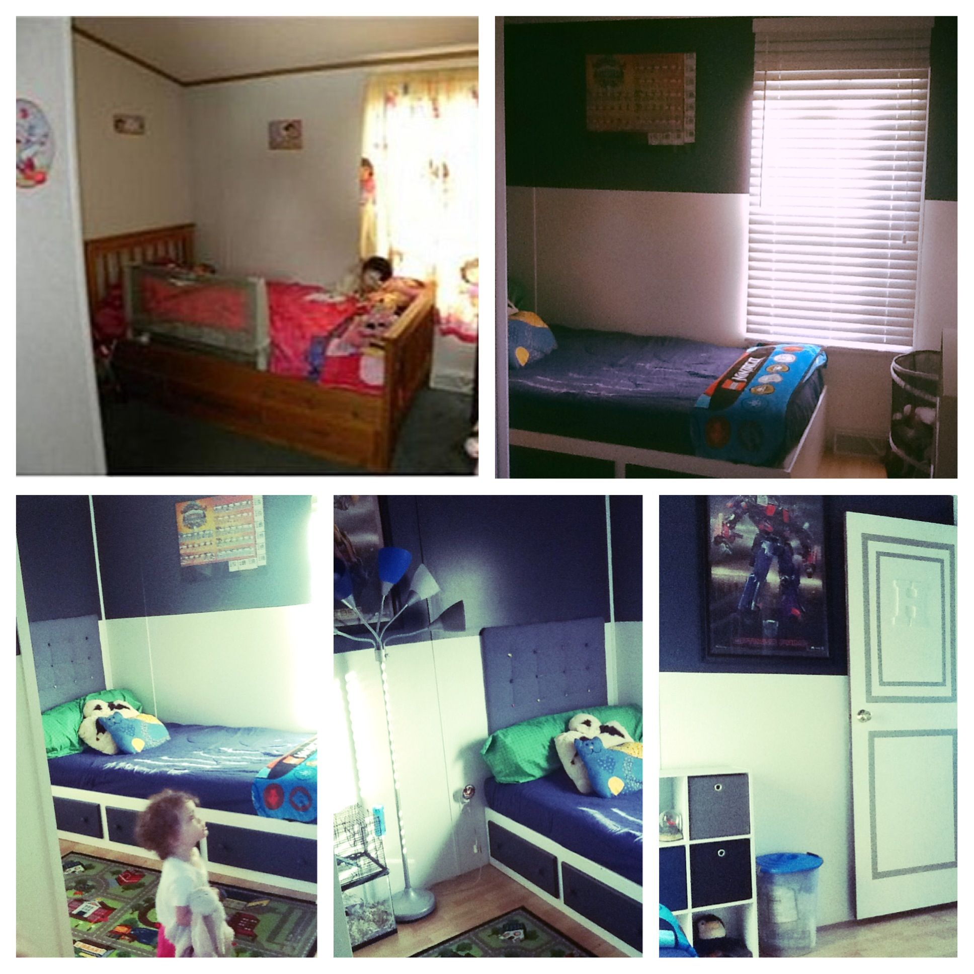 Makeover for a boy\'s bedroom in our single wide mobile home ...