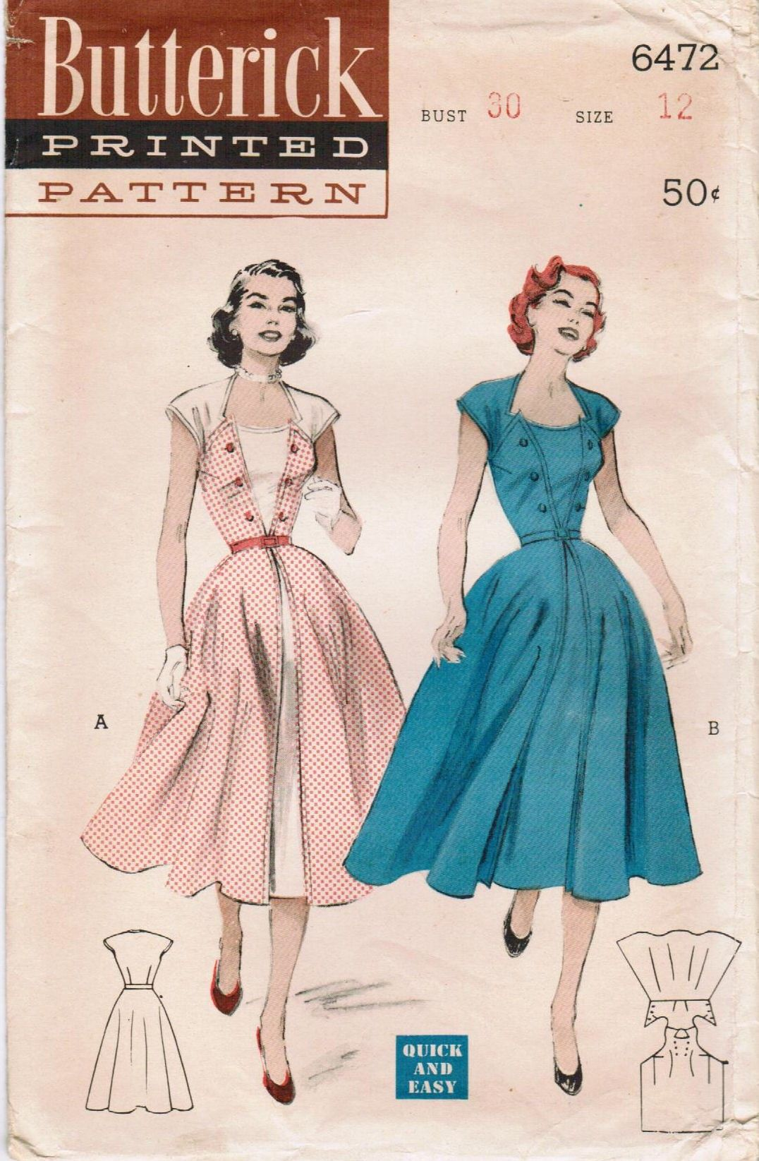 Butterick 6472 | Patterns, Sewing patterns and Vintage patterns