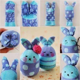 Peluches Diy 2 Aprender Manualidades Es Facilisimo Com Sock Crafts Diy Socks Sock Bunny