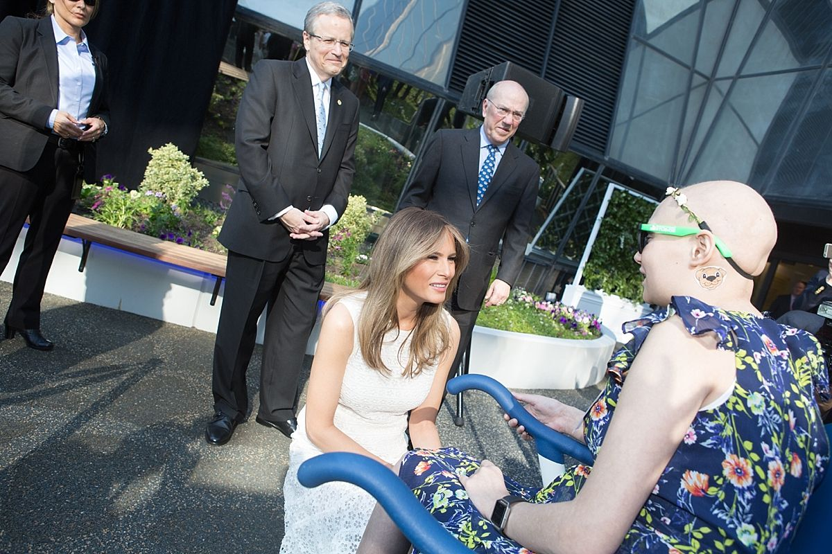 First Lady Melania Trump Visits Children's National Hospital's New Bunny Mellon Healing Garden | Mary Kate McKenna Photography