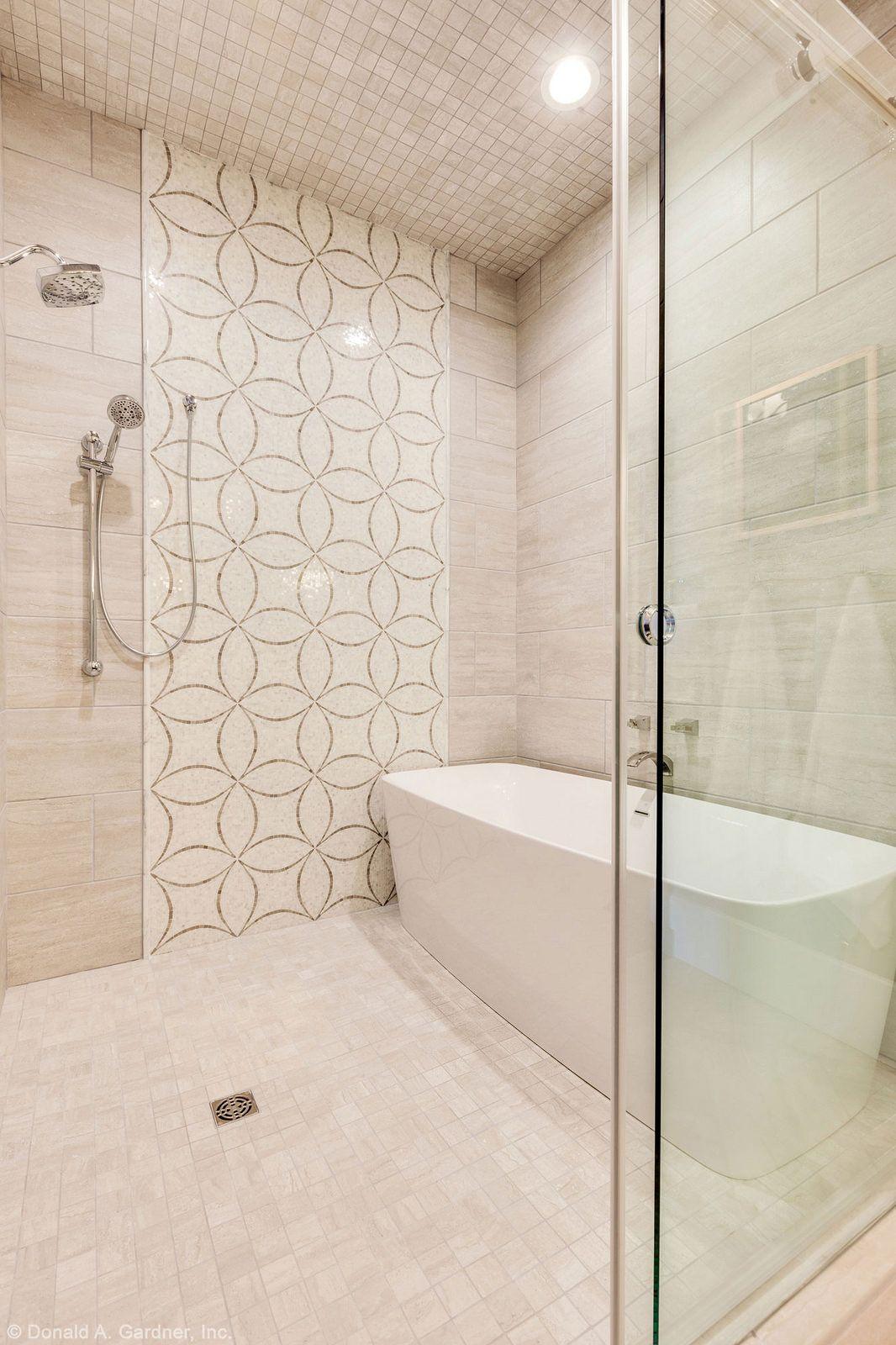 Plan #1211 - The Rangemoss | Small bathroom, Walk in ... on Wet Room With Freestanding Tub  id=75847