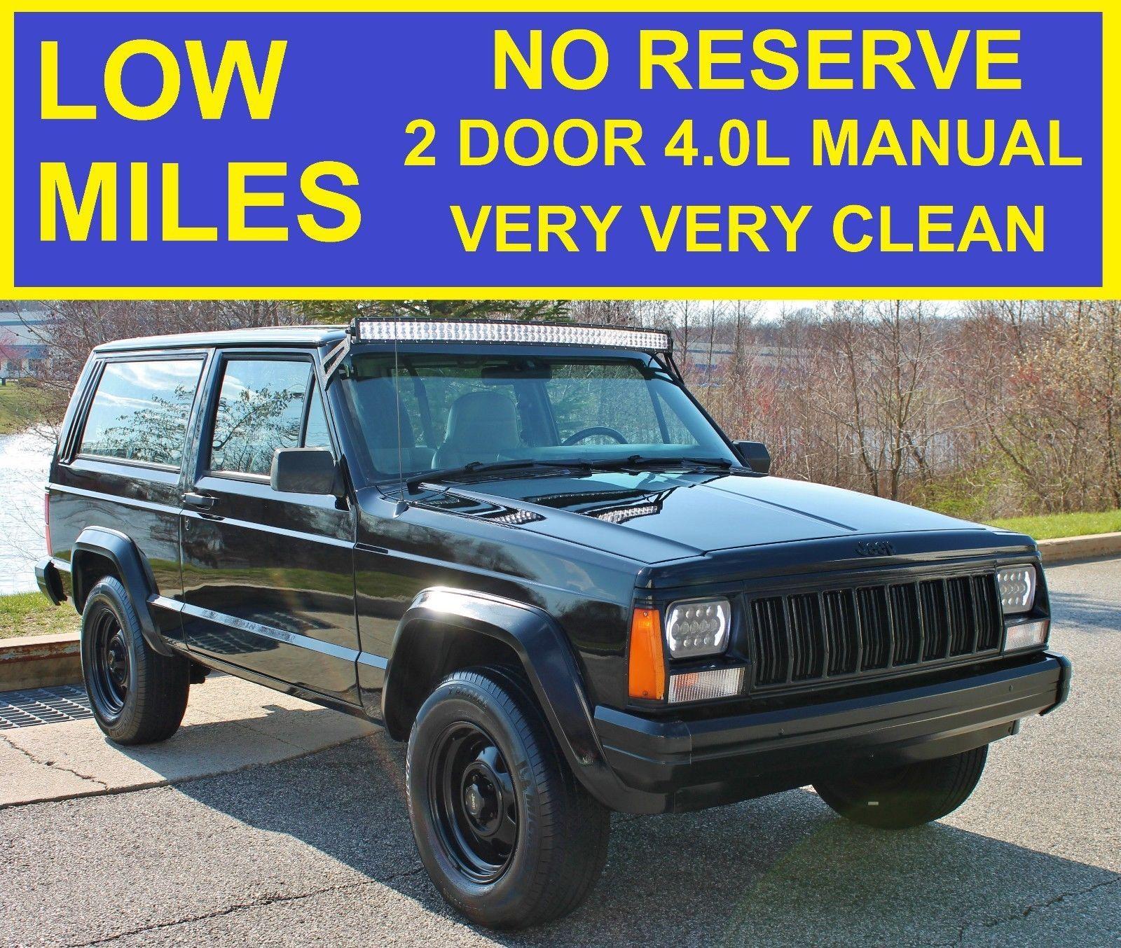 1996 Jeep Cherokee NO RESERVE 2 DOOR MANUAL 4.0L SE XJ STICK NO RESERVE 2