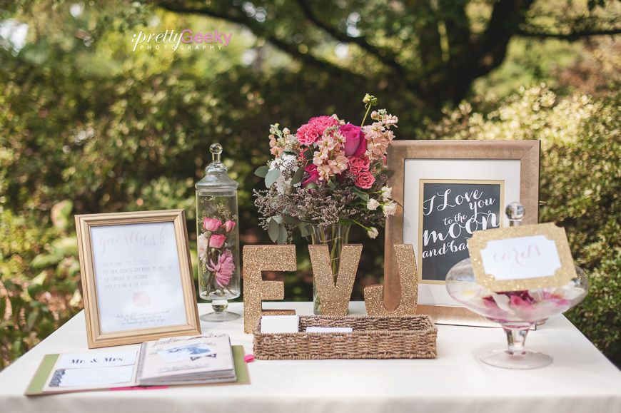 Signing The Guest Book Wedding Table Crystal Springs Rhododendron Garden Photo