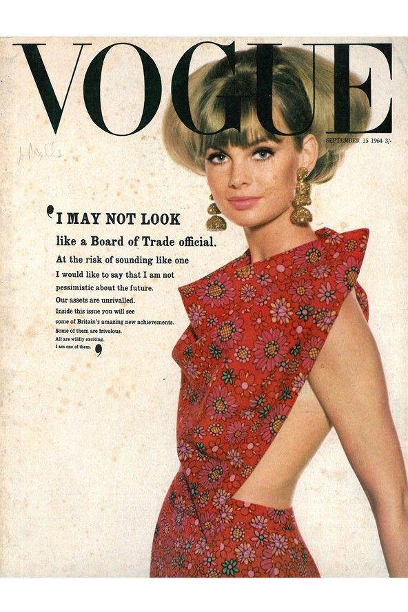 Vogue Cover September 1964-Jean Shrimpton; David Bailey