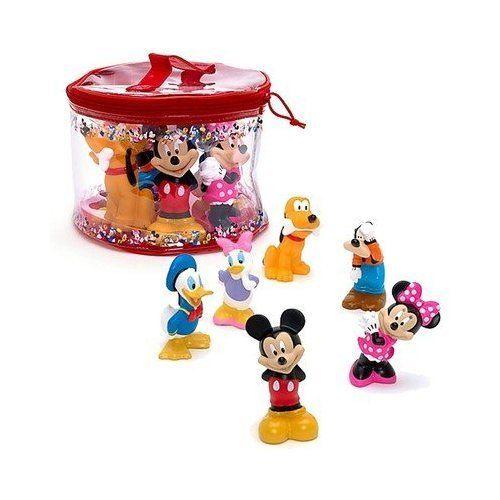 Disney Mickey Mouse Clubhouse 6 Pc Bath Toys Diese Und Freunde Squeeze Toy Funf Stuck Set Verfugt Uber Eine Praktische Tragetasche So Dass
