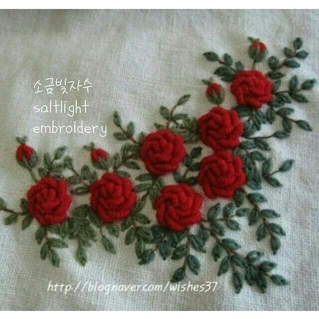 Bullion Rose Hand Embroidery Designs