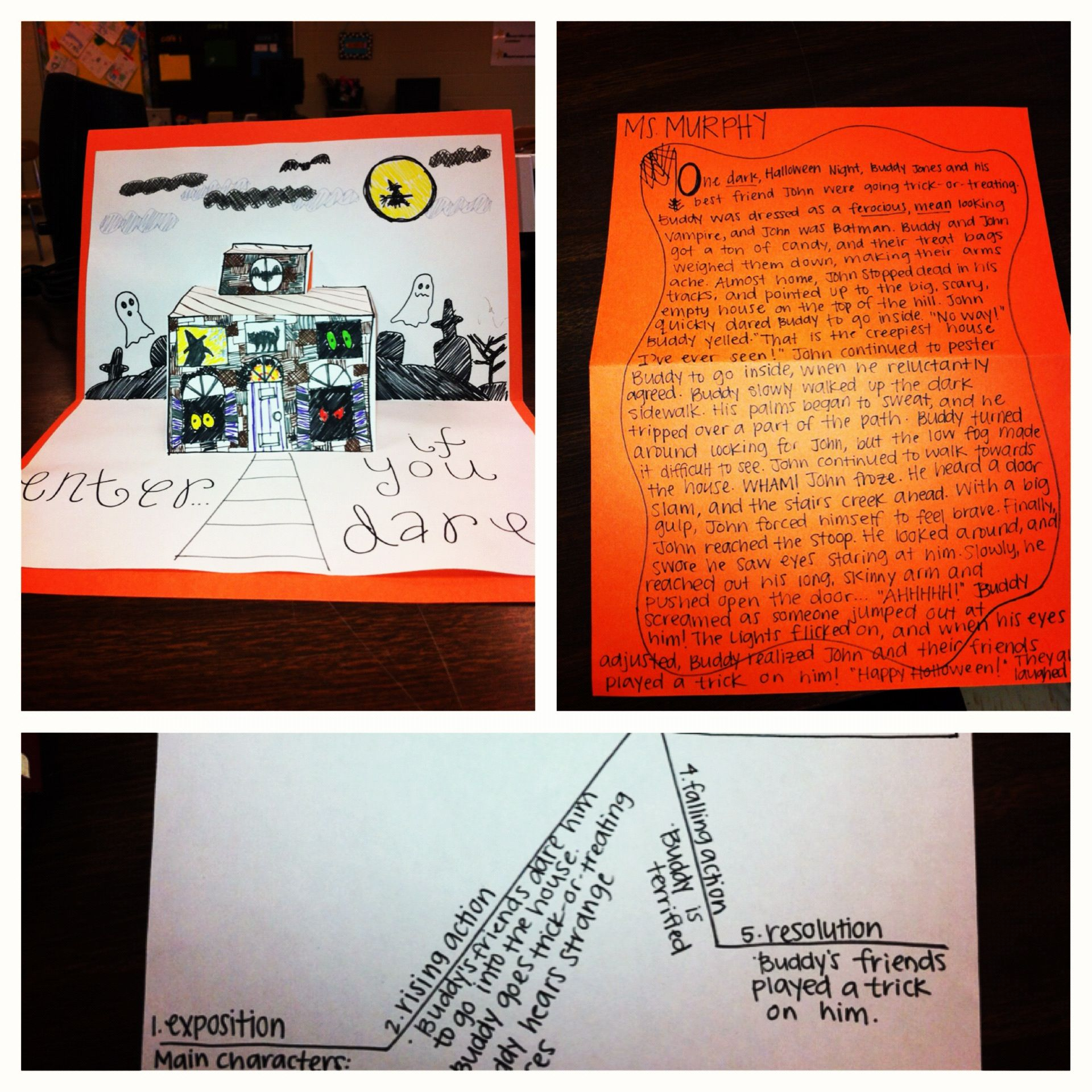 Halloween Pop Up Haunted House Writing Activity Have Students Create A Pop Up Haunted House And