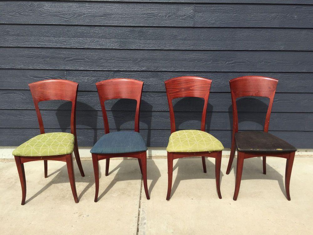 Set 4 Elegant Mid -Century Modern Dining Chairs SA A ...