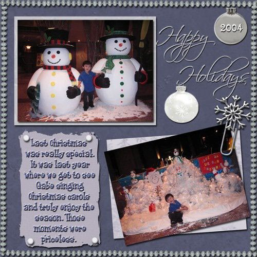 layout ideas for scrapbooking | Christmas Holiday Scrapbook Pages