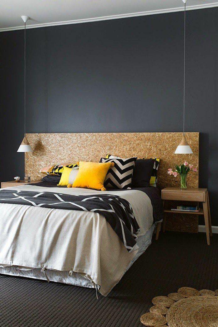 Le gris anthracite en 45 photos d\u0027intérieur! Feminine bedroom