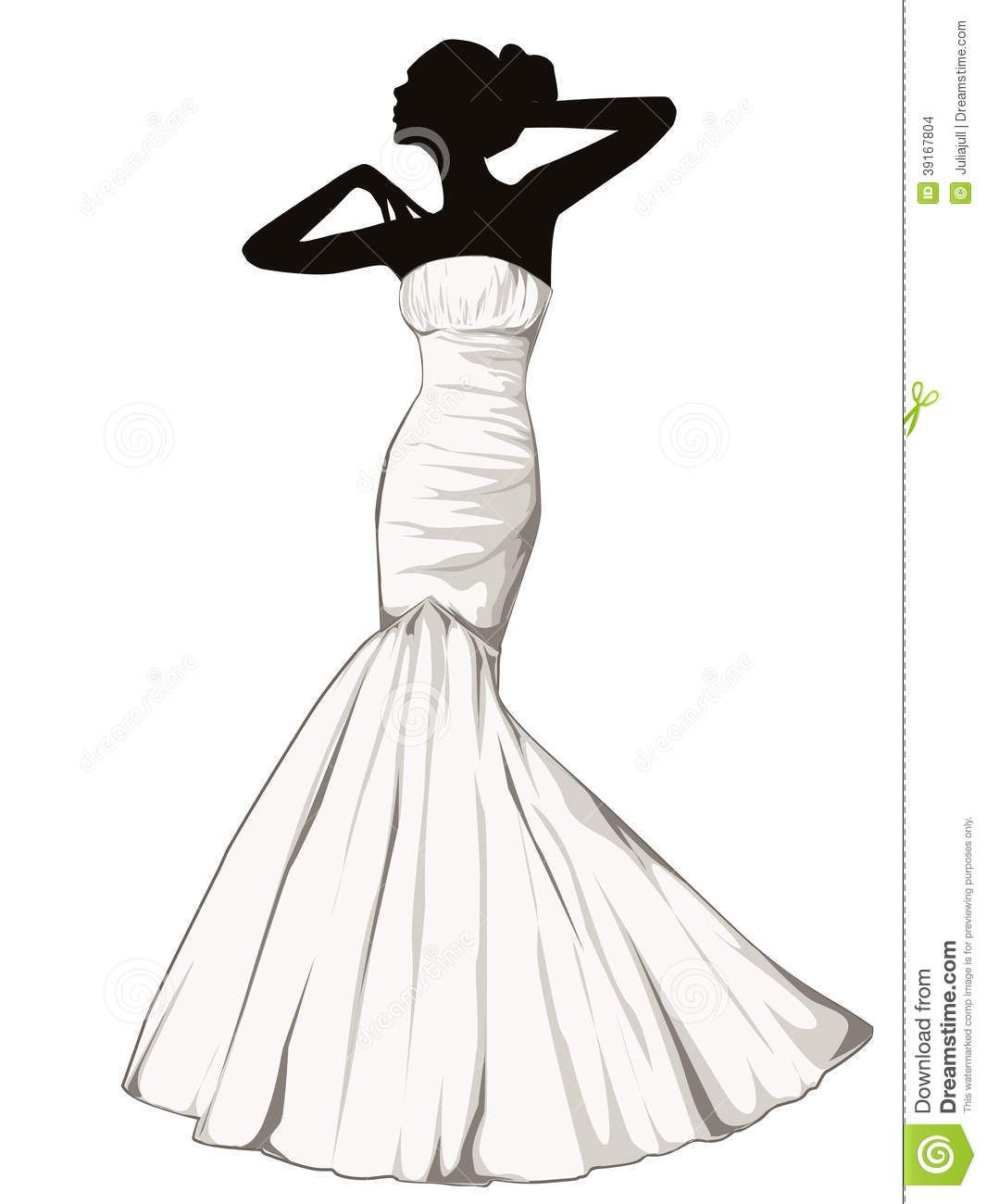 dress silhouettes | ... stock images of ` Silhouette of elegant girl ...