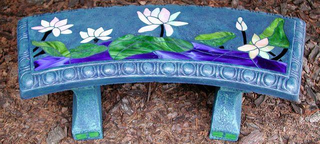 Tremendous Garden Bench Waterlilies Ocean Seas My Dream House Evergreenethics Interior Chair Design Evergreenethicsorg