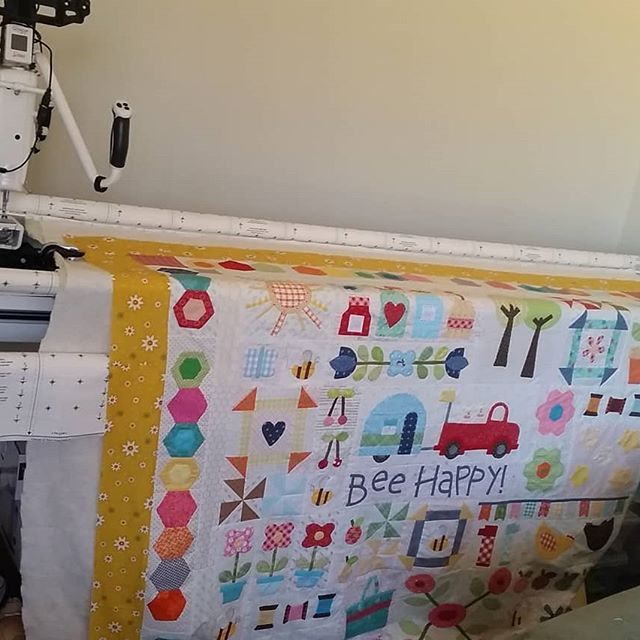 Well... its on the quilting frame. .. just have to wait for my ...
