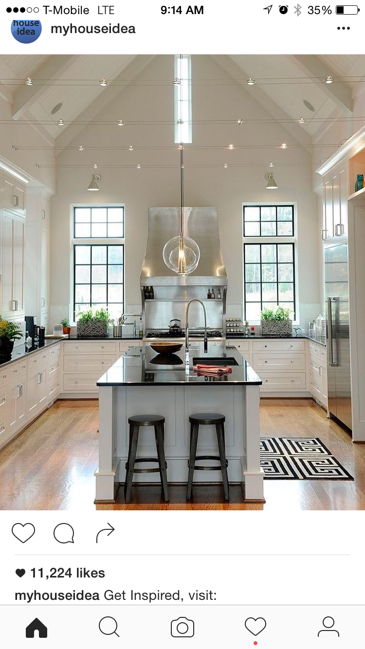 Love the light fixture and vent hood kitchen pinterest vent love the light fixture and vent hood vaulted ceiling arubaitofo Images