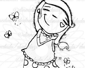 Arte  imprimible  princesa rana Digital sello a Color de