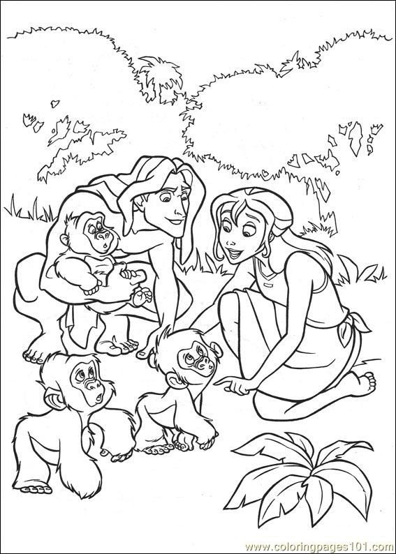 images tarzan coloring pages - photo#17