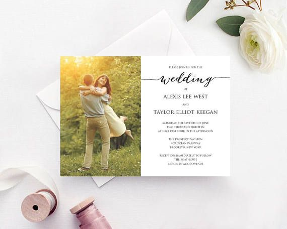 Wedding Invitation Template: Instantly download, edit and print your ...