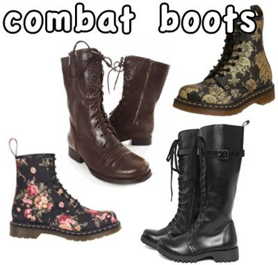 Stylish Combat Boots - Cr Boot