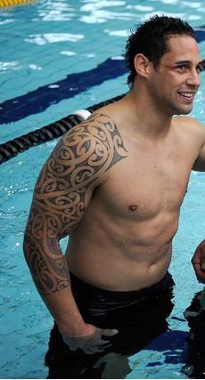 Luke Mcalister Nz All Black Tatouage Marquisien Tatouage Bras Maori