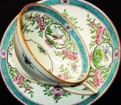 Bird Teal Teacup Set