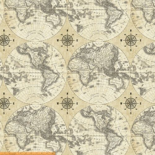 44 creme and black world map 100 cotton by windham fabrics 40026 44 creme and black world map 100 cotton by windham fabrics 40026 x gumiabroncs Images