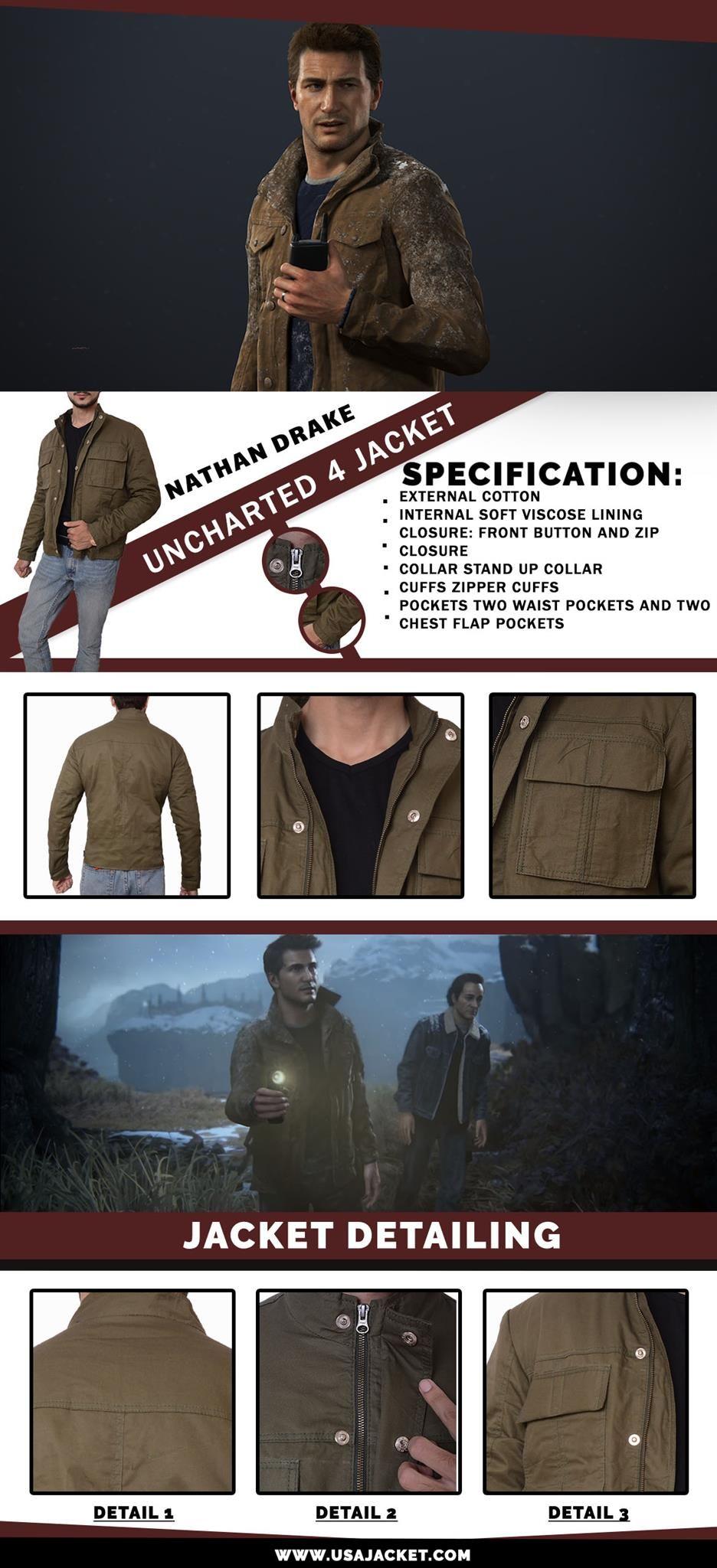 Nathan Drake Uncharted 4 Jacket Drake Clothing Drake