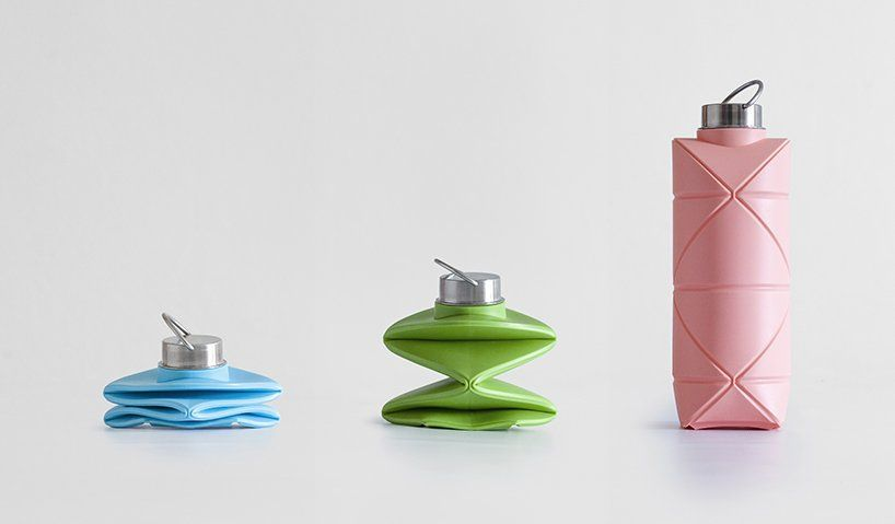 DiFOLD designs the collapsible and reusable 'origami bottle'