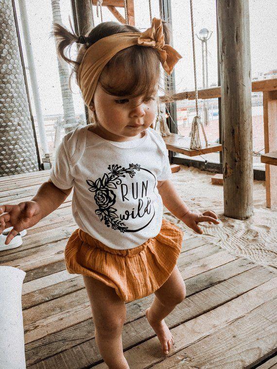 Run Wild – Wild Baby – Newborn Boho – Boho Baby – Flower Bodysuit – Baby Girl Clothes – Hippie – New Baby – BODYSUIT ONLY