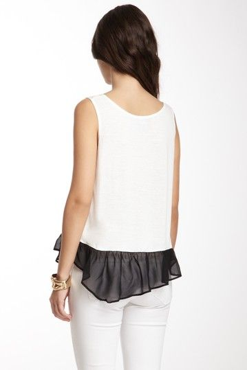 Chiffon Ruffle--nice idea to have it longer in the back.